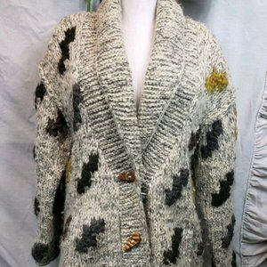Liz Clairborn Wool Sweater With Wood Buttons L/XL